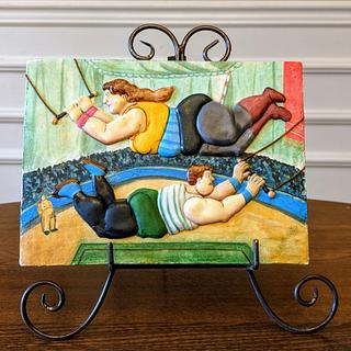 """Los Trapecistas"" Fernando Botero - Cake by Le Monnier du Biscuit"