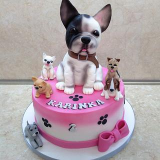 Cake with bulldog - Cake by Marianna Jozefikova