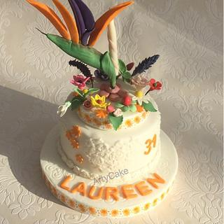 Bird of paradise cake - Cake by Artycake