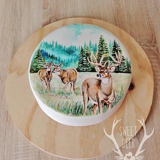 Whitetail Deer Scene