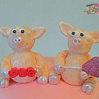 Pigin pigs cake topper
