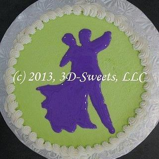 Ballroom Dancer's 25th Birthday - Cake by 3DSweets