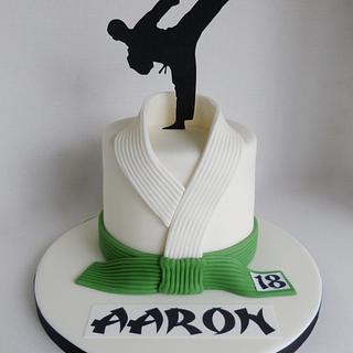 Taekwondo/judo 18th Birthday cake