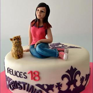 Felices 18 Cristina !! - Cake by LAS TARTAS DE CRIS