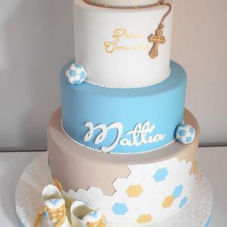 torta comunione tema calcio