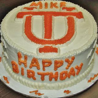 UT Cake (University of Tennessee) in all Buttercream - Cake by Nancys Fancys Cakes & Catering (Nancy Goolsby)