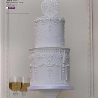 Bernini's Louis XIV inspired cake