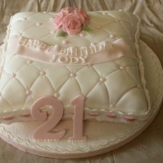 21st Birthday  Pillow cake