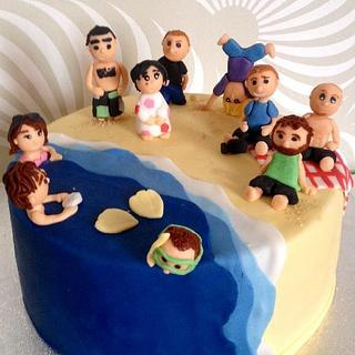 Beach time - Cake by Dasa