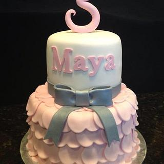 Princess Dress Birthday Cake