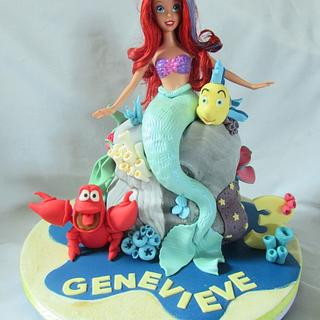 the little mermaid - Cake by jen lofthouse