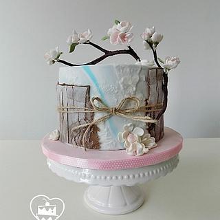 Cherry blossom  - Cake by MOLI Cakes