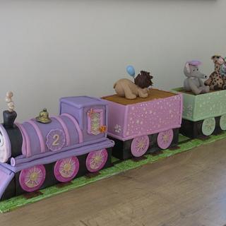 Girly Train Cake