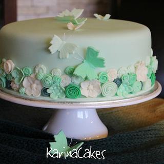 Green Butterfly Cake