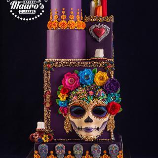 Dia de los Muertos Cake