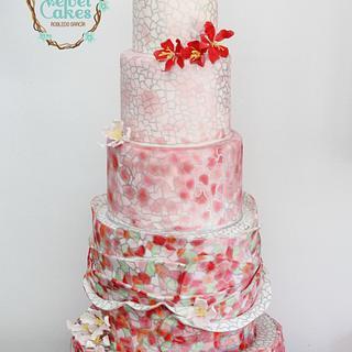 Gaudí Inspiration Wedding Cake