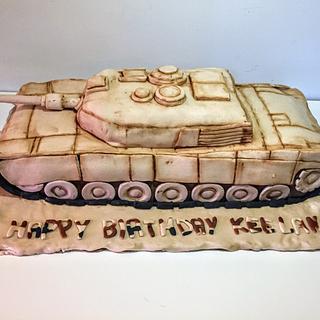 M1 Abrams tank cake  - Cake by Coffelover