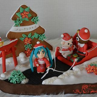 Merīkurisumasu メリークリスマス  Santa's Passport - Cake by Mila - Pure Cakes by Mila