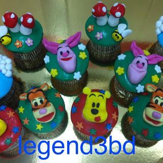 wennie pooh cup cakes
