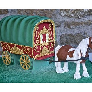 Horse drawn gypsy caravan