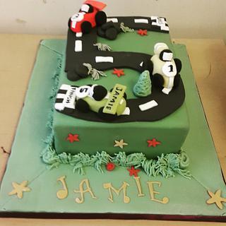 Racetrack cake - Cake by Shollybakes