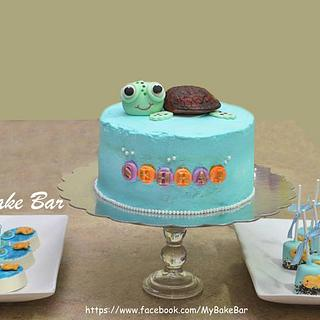 Baby squirt the tortoise cake!