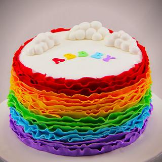 Rainbow Ruffles - Cake by Jo Kavanagh