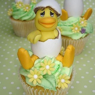 Easter Chicken Cupcakes