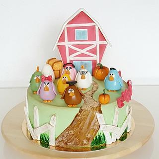 Happy chickens cake
