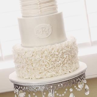 Ruffles, Pleats and Pearls - Cake by AlwaysWithCake