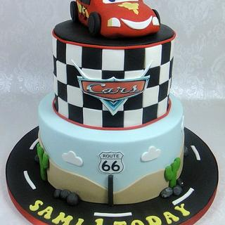 Cars - Lightening McQueen Birthday Cake