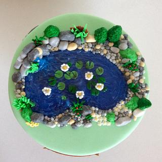 Garden pond - Cake by Dasa