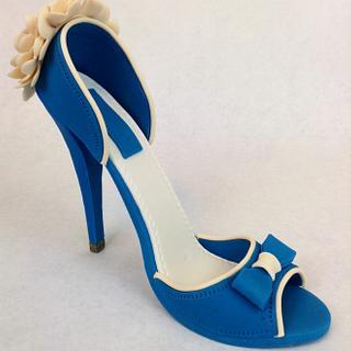 Royal Blue Gumpaste Shoe