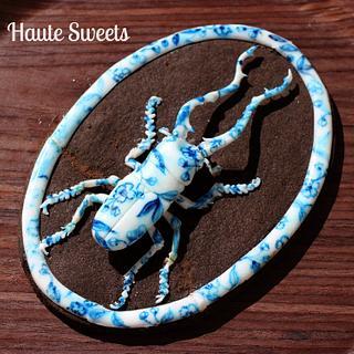 Porcelain Stag Beetle cookie