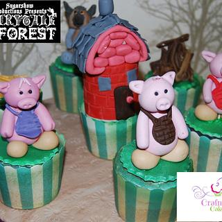 Three little pigs. - Cake by Hannah - Crafnant Cakes