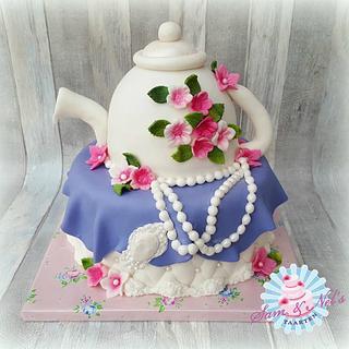 High tea party cake