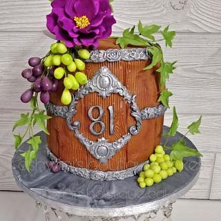 Flowery Barrel Cake