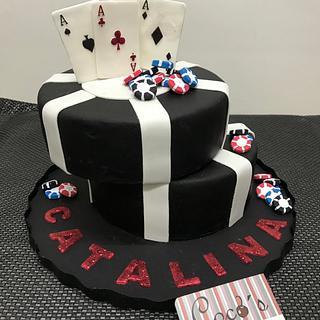 Póker fondant cake