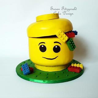 Lego Storage Head Cake