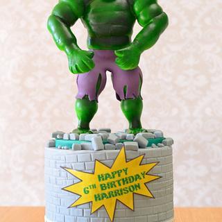 The Hulk birthday cake