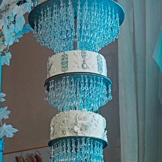 Elegant chandelier cake