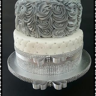 Silver and Bling Cake