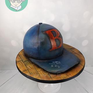 Baseball cap 3d cake