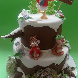 chip and dale & donald duck cakes