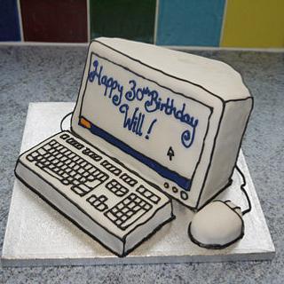 Computer Cake - Cake by VikkiCakeDiddly