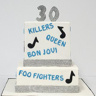 Favourite Bands Cake - Cake by Robyn