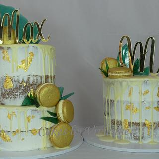 Matching Christening and Birthday Cake - Cake by Cakes by Vivienne