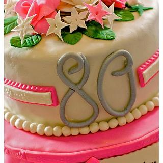 Pearls, Roses and Pink 80th Birthday