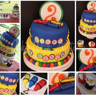 Crayon Cake - Cake by Viviana & Guelcys