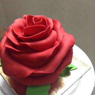 Rose cake - Cake by Monika Srivastava
